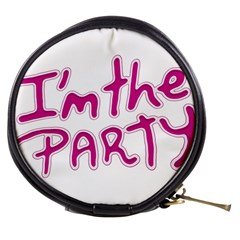 I Am The Party Typographic Design Quote Mini Makeup Case by dflcprints