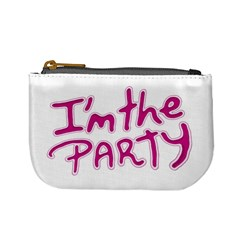 I Am The Party Typographic Design Quote Coin Change Purse by dflcprints