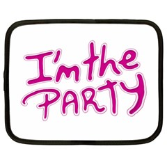 I Am The Party Typographic Design Quote Netbook Sleeve (xl) by dflcprints