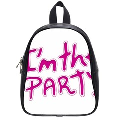 I Am The Party Typographic Design Quote School Bag (small) by dflcprints