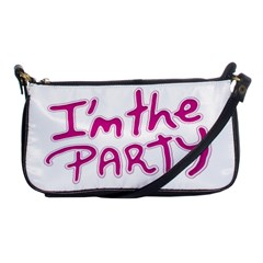 I Am The Party Typographic Design Quote Evening Bag by dflcprints