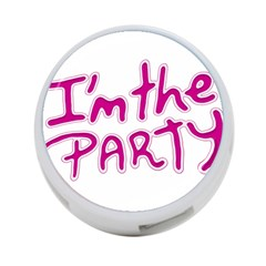 I Am The Party Typographic Design Quote 4 Port Usb Hub (one Side) by dflcprints