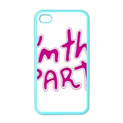 I Am The Party Typographic Design Quote Apple Iphone 4 Case (color) by dflcprints