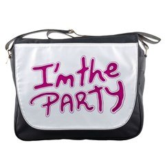 I Am The Party Typographic Design Quote Messenger Bag by dflcprints