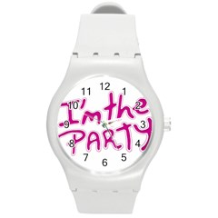 I Am The Party Typographic Design Quote Plastic Sport Watch (Medium) by dflcprints