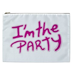 I Am The Party Typographic Design Quote Cosmetic Bag (xxl) by dflcprints