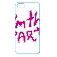 I Am The Party Typographic Design Quote Apple Seamless Iphone 5 Case (color) by dflcprints