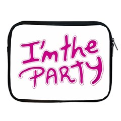 I Am The Party Typographic Design Quote Apple Ipad Zippered Sleeve by dflcprints