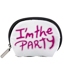 I Am The Party Typographic Design Quote Accessory Pouch (small) by dflcprints