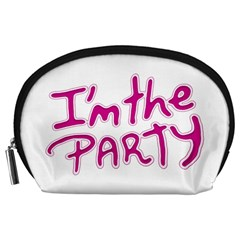 I Am The Party Typographic Design Quote Accessory Pouch (large) by dflcprints