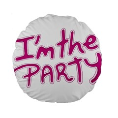 I Am The Party Typographic Design Quote 15  Premium Flano Round Cushion  by dflcprints
