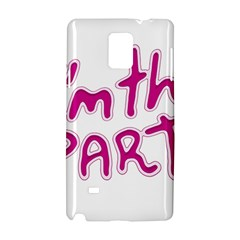 I Am The Party Typographic Design Quote Samsung Galaxy Note 4 Hardshell Case by dflcprints