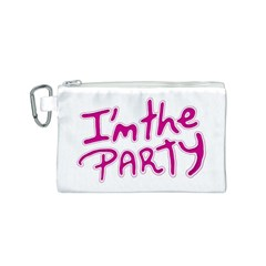 I Am The Party Typographic Design Quote Canvas Cosmetic Bag (small) by dflcprints