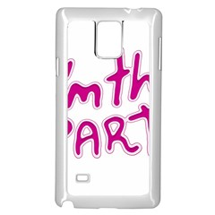 I Am The Party Typographic Design Quote Samsung Galaxy Note 4 Case (white) by dflcprints