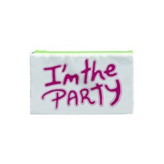 I Am The Party Typographic Design Quote Cosmetic Bag (xs) by dflcprints
