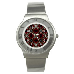 Cute Pretty Elegant Pattern Stainless Steel Watch (slim) by creativemom