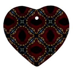 Cute Pretty Elegant Pattern Heart Ornament (two Sides) by creativemom
