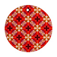 Cute Pretty Elegant Pattern Round Ornament (two Sides) by creativemom