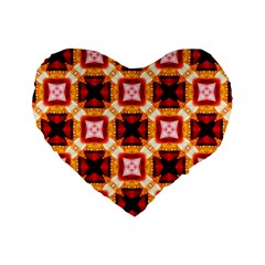 Cute Pretty Elegant Pattern 16  Premium Flano Heart Shape Cushion  by creativemom