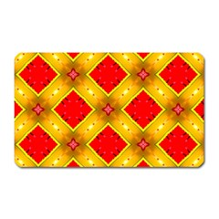 Cute Pretty Elegant Pattern Magnet (rectangular) by creativemom