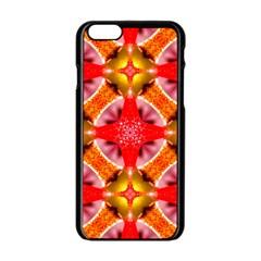 Cute Pretty Elegant Pattern Apple Iphone 6 Black Enamel Case by creativemom