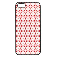 Cute Pretty Elegant Pattern Apple Iphone 5 Seamless Case (black) by creativemom
