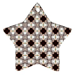 Cute Pretty Elegant Pattern Star Ornament (two Sides) by creativemom