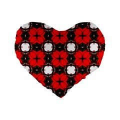 Cute Pretty Elegant Pattern 16  Premium Flano Heart Shape Cushion  by creativemom