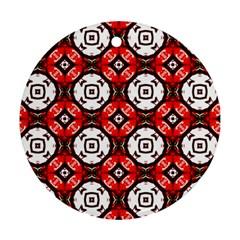 Cute Pretty Elegant Pattern Round Ornament by creativemom
