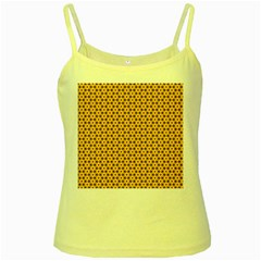 Cute Pretty Elegant Pattern Yellow Spaghetti Tank by creativemom