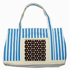 Cute Pretty Elegant Pattern Blue Striped Tote Bag by creativemom