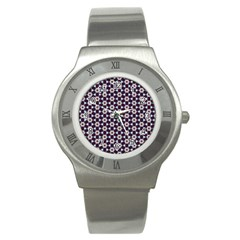 Cute Pretty Elegant Pattern Stainless Steel Watch (slim) by creativemom