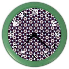 Cute Pretty Elegant Pattern Wall Clock (color) by creativemom