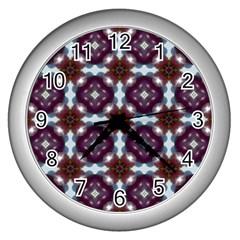Cute Pretty Elegant Pattern Wall Clock (silver) by creativemom