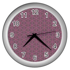 Cute Pretty Elegant Pattern Wall Clock (silver) by creativemom