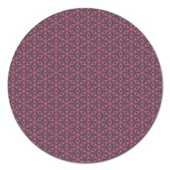 Cute Pretty Elegant Pattern Magnet 5  (round) by creativemom