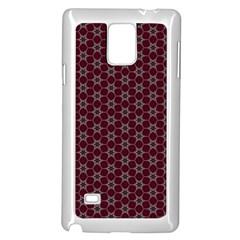 Cute Pretty Elegant Pattern Samsung Galaxy Note 4 Case (white) by creativemom