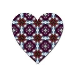 Cute Pretty Elegant Pattern Magnet (heart) by creativemom