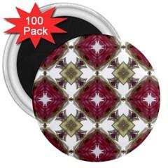 Cute Pretty Elegant Pattern 3  Button Magnet (100 Pack) by creativemom