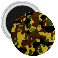Camo Pattern  3  Button Magnet by Colorfulart23