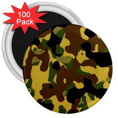 Camo Pattern  3  Button Magnet (100 pack) by Colorfulart23
