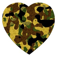 Camo Pattern  Jigsaw Puzzle (heart) by Colorfulart23
