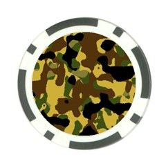 Camo Pattern  Poker Chip (10 Pack) by Colorfulart23
