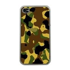 Camo Pattern  Apple Iphone 4 Case (clear) by Colorfulart23