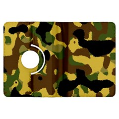 Camo Pattern  Kindle Fire Hdx Flip 360 Case by Colorfulart23