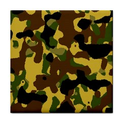 Camo Pattern  Ceramic Tile by Colorfulart23