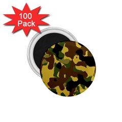 Camo Pattern  1 75  Button Magnet (100 Pack) by Colorfulart23