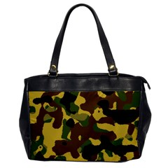 Camo Pattern  Oversize Office Handbag (one Side) by Colorfulart23