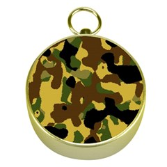 Camo Pattern  Gold Compass by Colorfulart23