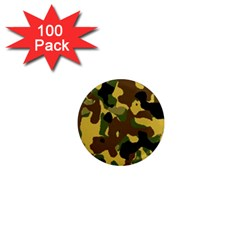 Camo Pattern  1  Mini Button Magnet (100 Pack) by Colorfulart23